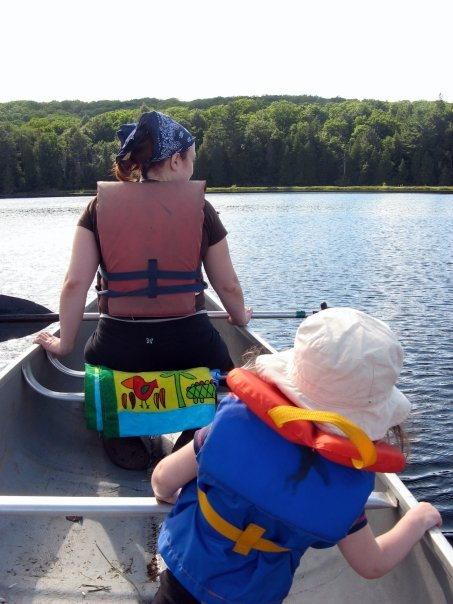 My sister and my neice, off on a canoe ride. Photo copyright 2008 Jeff Kramp. All rights reserved.